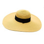 Boardwalk Style - Wide Brim Straw Hat With Natural Band