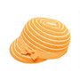 Boardwalk Style - Kids Striped Straw Cap in Orange - Full View