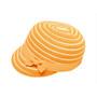 Boardwalk Style - Kids Striped Straw Cap in Orange - Full View