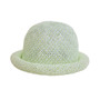 Boardwalk Style Kids Straw Roller Hat in Lime - Full View