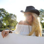 Conner Bush and City Leather Hat - Stock Girl