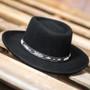 Conner - Wool Felt Arizona Gambler Hat  - Stock Image 1