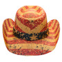 California Hat Company - Liberty American Flag Cowboy Hat - Back