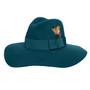 Conner - Allison Floppy Wool Hat in Jade - Full View