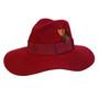 Conner - Allison Floppy Wool Hat in Burgundy - Full View