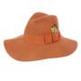 Conner - Allison Floppy Wool Hat in Rust - Full View