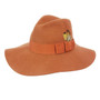 Conner - Allison Floppy Wool Hat in Rust - Full View