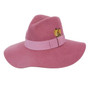 Conner - Allison Floppy Wool Hat in Mulberry - Full View