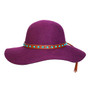Conner - 1970 Floppy Wool Hat in Plum- Full View