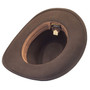 Dorfman Pacific - Indiana Jones Outback Hat - Bottom, Inside