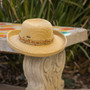 Sun 'N' Sand - Braided Up-Brim Beaded Hat in Tan - Stock Image