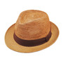 Henschel - Crochet Panama Fedora in Wheat - Full View