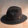 Stetson - Tullamore Distressed Leather Safari Hat - Stock Image 1