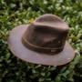 Stetson - Tullamore Distressed Leather Safari Hat - Stock Image 2