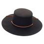 Jeanne Simmons - Wool Felt Bolero Hat w/ Chin Chord - Front