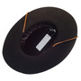 Jeanne Simmons - Wool Felt Bolero Hat w/ Chin Chord - Bottom, Inside