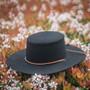 Jeanne Simmons - Wool Felt Bolero Hat w/ Chin Chord - Stock Image 2