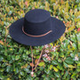 Jeanne Simmons - Wool Felt Bolero Hat w/ Chin Chord - Stock Image 1