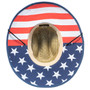 Dorfman Pacific - American Flag Rush Lifeguard Sun Hat - Bottom