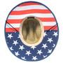Dorfman Pacific - American Flag Rush Lifeguard Sun Hat - Bottom