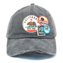 American Needle - Cali Bear Distressed Patch Cap in Black - Front
