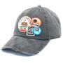 American Needle - Cali Bear Distressed Patch Cap in Black -