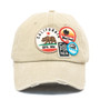 American Needle - Cali Bear Distressed Patch Cap in Stone - Front