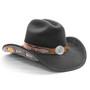 Stampede Hats - Lone Star Black Felt Western Hat with Brown Embossed Trim -  Opposite Side