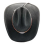 Stampede Hats - Lone Star Black Felt Western Hat with Brown Embossed Trim -  Top