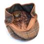 Henschel - Wool Blend Flat Cap with Ear Flaps in Brown - Bottom/Unfolded