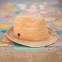 Sun 'N' Sand - Sophie Fine Raffia Snap Brim Fedora Hat - Stock Image 1