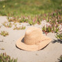 Sun 'N' Sand - Ian Fine Raffia Fedora Hat - Stock Image 1