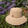 Sun 'N' Sand - Madelyn Crochet Raffia Cloche Hat - Stock Image 1