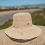 Sun 'N' Sand - Premium Raffia Wide Brim Cloche Hat - Stock Image 1