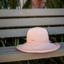 Sun 'N' Sand - Raffia Wide Brim Crocheted Cloche Hat with Raffia Flower Hats - Stock Image 2