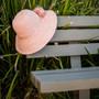 Sun 'N' Sand - Raffia Wide Brim Crocheted Cloche Hat with Raffia Flower Hats - Stock Image 1