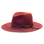 Olive & Pique - Wide Brim Floppy Wool Felt Hat - Burgundy