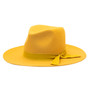 Olive & Pique - Wide Brim Floppy Wool Felt Hat - Mustard