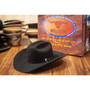 "Bullhide Hats by Montecarlo - 10X ""True"" Beaver Felt Black Cowboy Hat (Stock Image 2 w/ Box)"