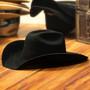 "Bullhide Hats by Montecarlo - 4X ""Kingman"" Wool Felt Black Cowboy Hat / Rhinestone Buckle (Stock Image 1)"