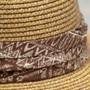 Saint Martin - Sewn Paper Tan Resort Hat (Hat Band)