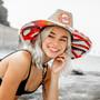 Peter Grimm - Octopus Straw Lifeguard Hat - Model