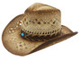 California Hat Company - Toyo Cowboy Hat With Blue Stone Trim