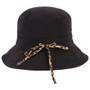 Kooringal - Ladies Reversible Golf Hat in Black - Back