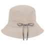 Kooringal - Ladies Reversible Golf Hat in Natural - Back