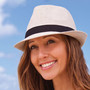 Kooringal - Pippa Hemp Fedora - Black Band (Stock Image, Women's Hat)