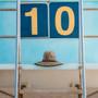Kooringal - Black Burleigh Surf Straw Lifeguard Hat  - Stock Image 2