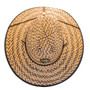 Kooringal - Black Burleigh Surf Straw Lifeguard Hat  - Top