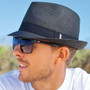 Model Wearing Kooringal - Arlo Unisex Fedora in Black