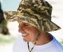 Model Wearing Kooringal - Men's Camo Bucket